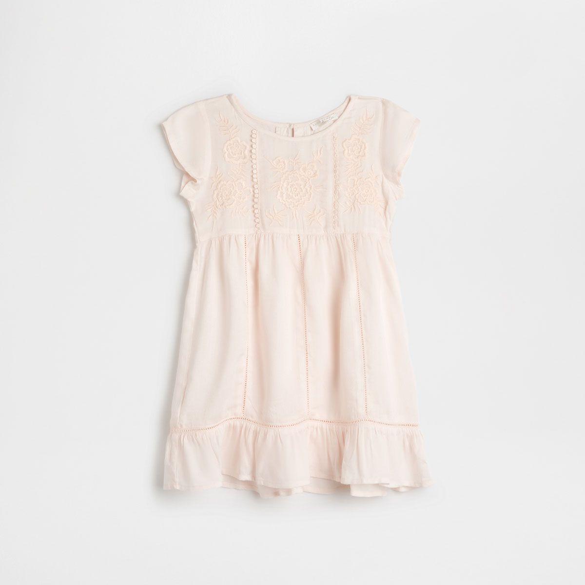 Изображение 1 товара Ночная рубашка с вышивкой персикового цвета