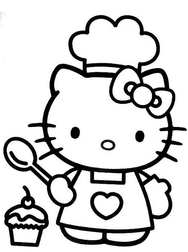 Hello kitty coloring pages | Hello Kitty cuoca | Malvorlagen ...