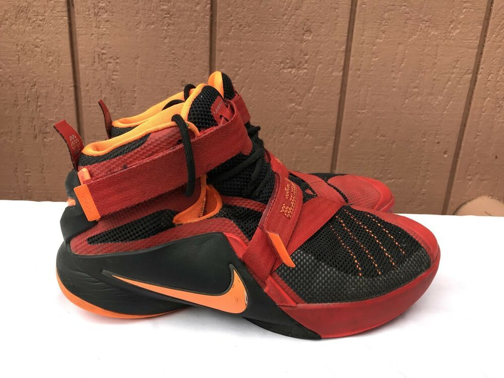 outlet store 9eefe b56b5 eBay  Sponsored Nike Lebron Soldier IX 9 Boys GS Basketball Shoes 776471-040  Red