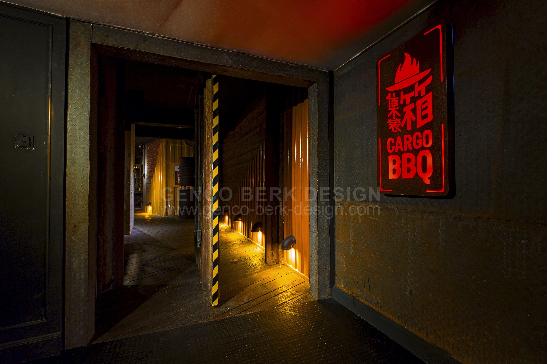 cargo korean bbq main entrance door by genco berk design