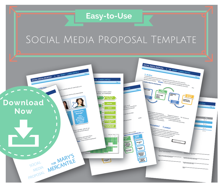 Downloadable Social Media Proposal Template  Social Media