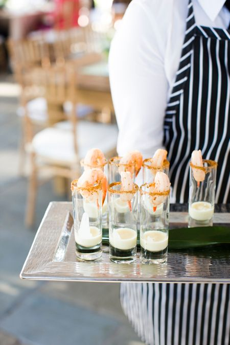 Shrimp cocktail hors d'oeuvres by Fish Restaurant in Charleston, SC. Photo by Corbin Gurkin. #weddings #weddingfood