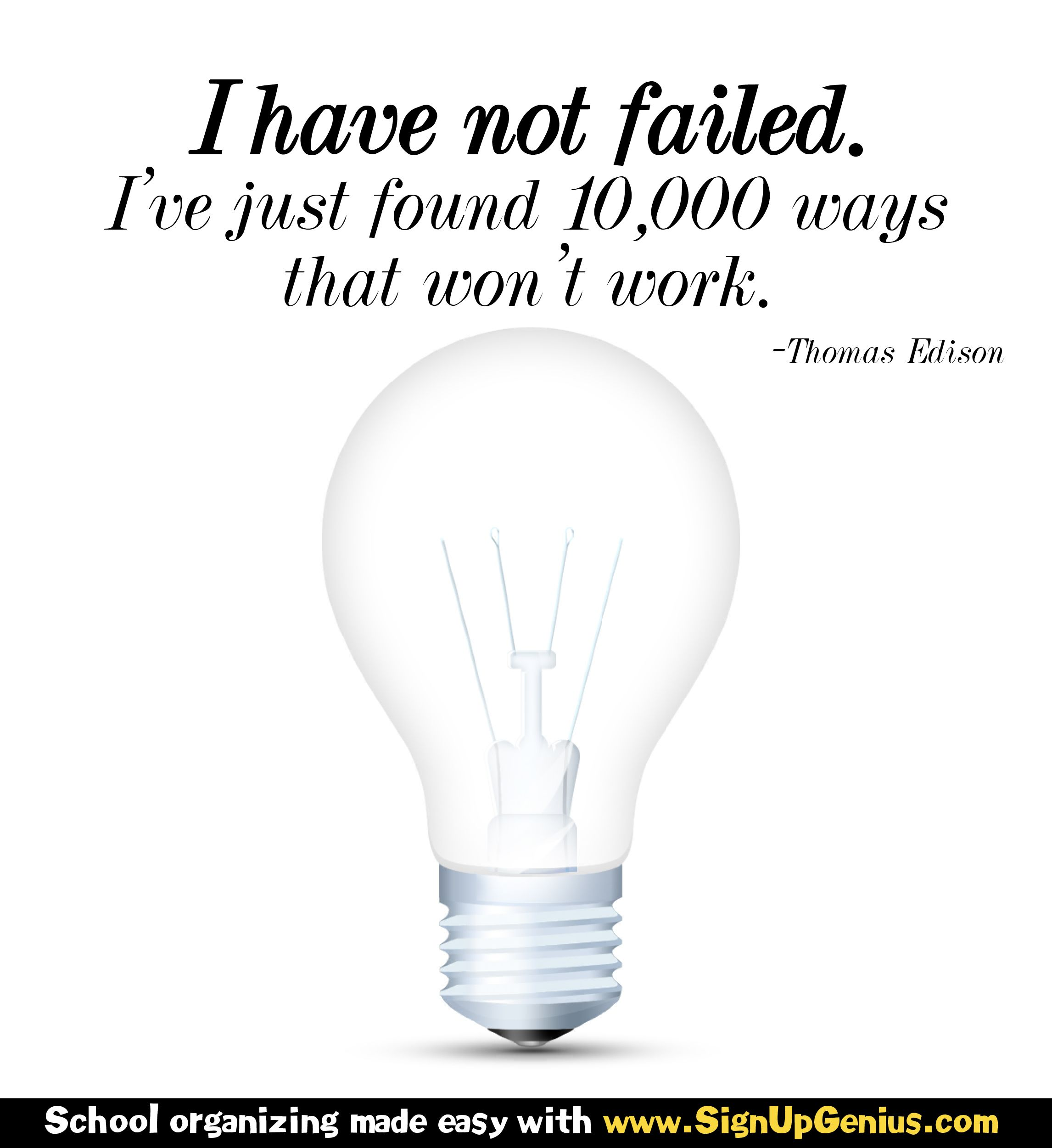 Success comes from a process of trial and error. A great