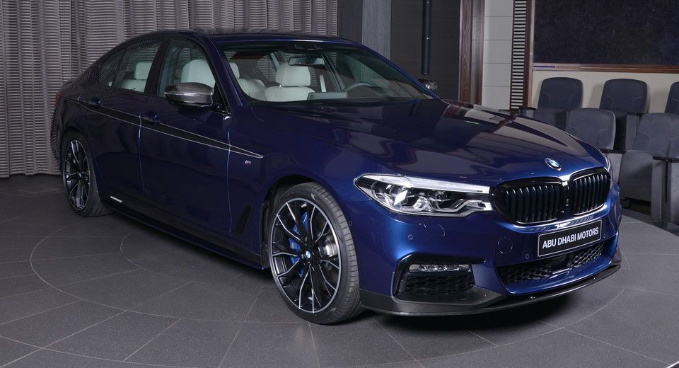 Mediterranean Blue 2017 Bmw 540i Dipped In M Performance Carbon