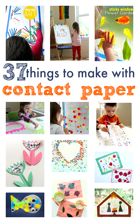37 Things To Make With Contact Paper Crafts For Kids Crafts For