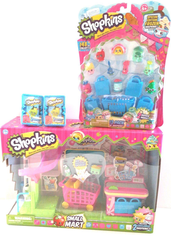 Amazon Com Bundle 4 Items Shopkins Supermarket Playset Shopkins