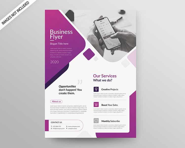 A4 Flyer قالب تصميم فلاير للتحميل مجانا قابل للتعديل على الفوتوشوب بصيغة Psd 2020 مكتبة الفوتوشوب In 2020 Business Flyer Templates Business Flyer Business Slogans