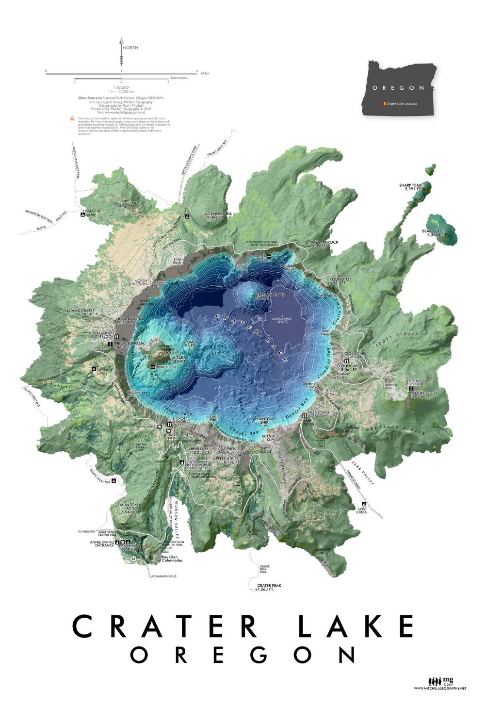 Crater Lake - Oregon — MITCHELL GEOGRAPHY