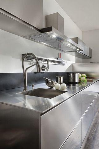 Plan De Travail En Inox Plan De Travail Inox Cuisine Moderne Design Cuisine Inox