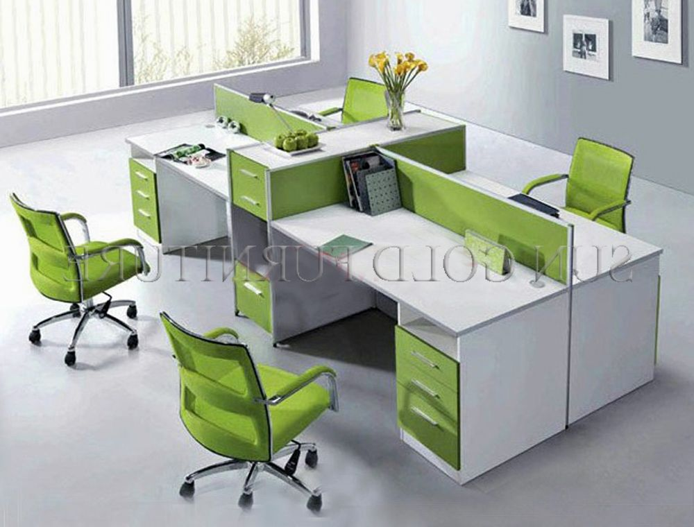 Green Office Desk Small Room B Workstations
