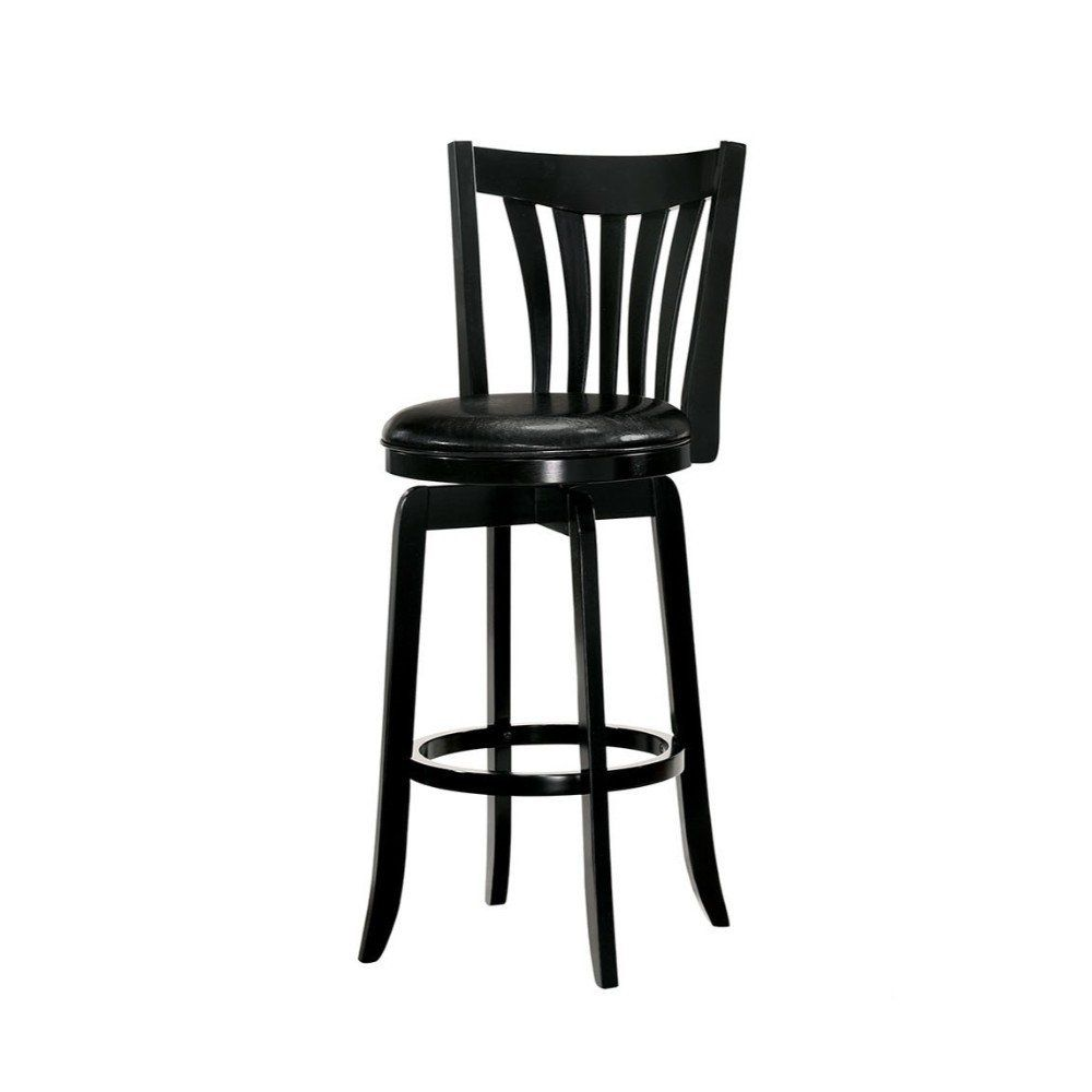 Phenomenal 29 Inch Wooden Swivel Bar Stool With Leatherette Seat And Caraccident5 Cool Chair Designs And Ideas Caraccident5Info