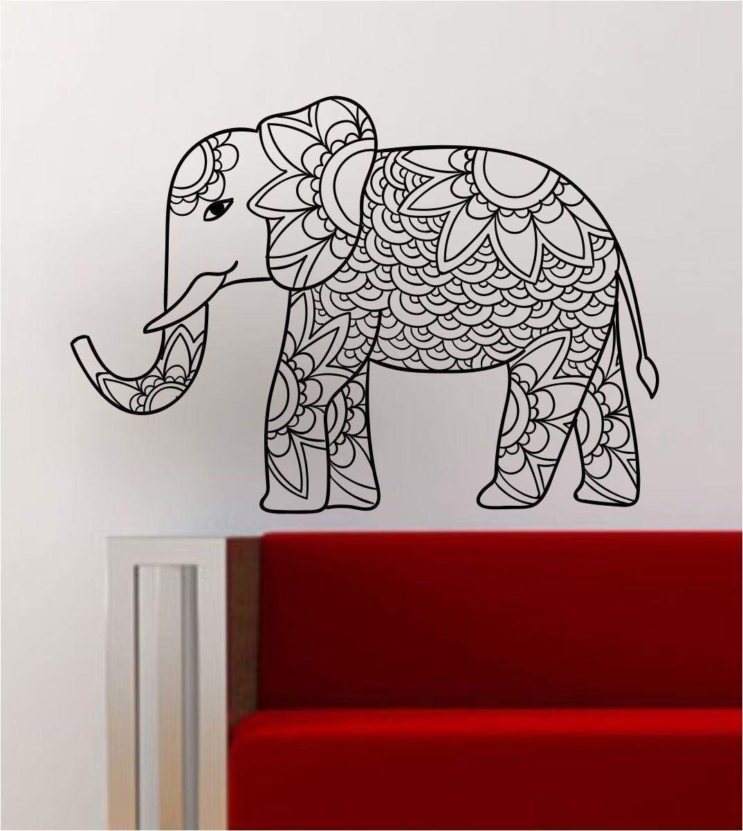 Elephant V4 Decal Wall Vinyl Art Decor Room Animal