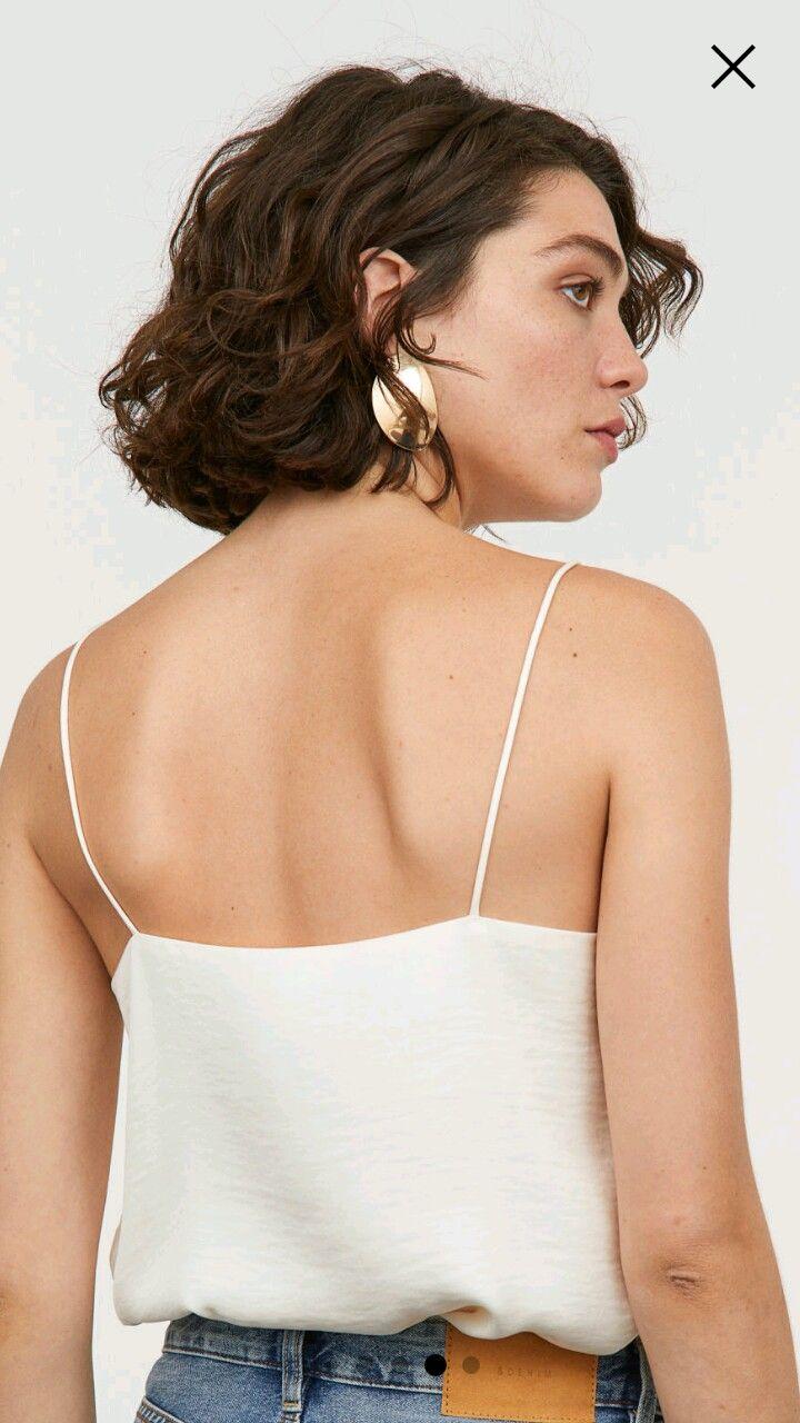 H&M earrings | Hair styles, Short curls, Bob hairstyles
