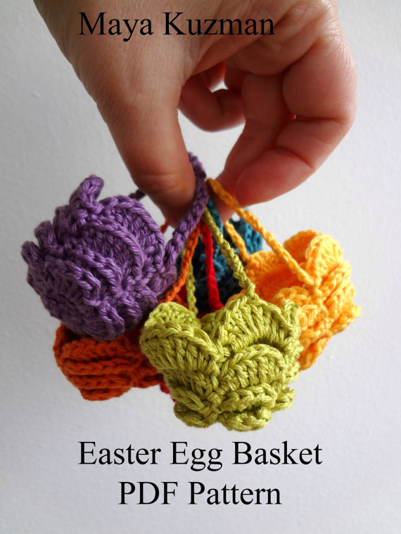 DIGITAL CROCHET PATTERN Easter Egg Crochet Basket, eastern eggs ...