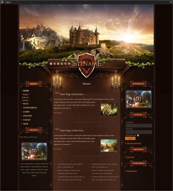 48+ Gaming Website Themes & Templates | Free & Premium Templates ...