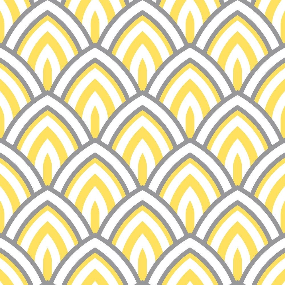 "Yellow Geometric Peel and Stick Wallpaper - 25""W x"