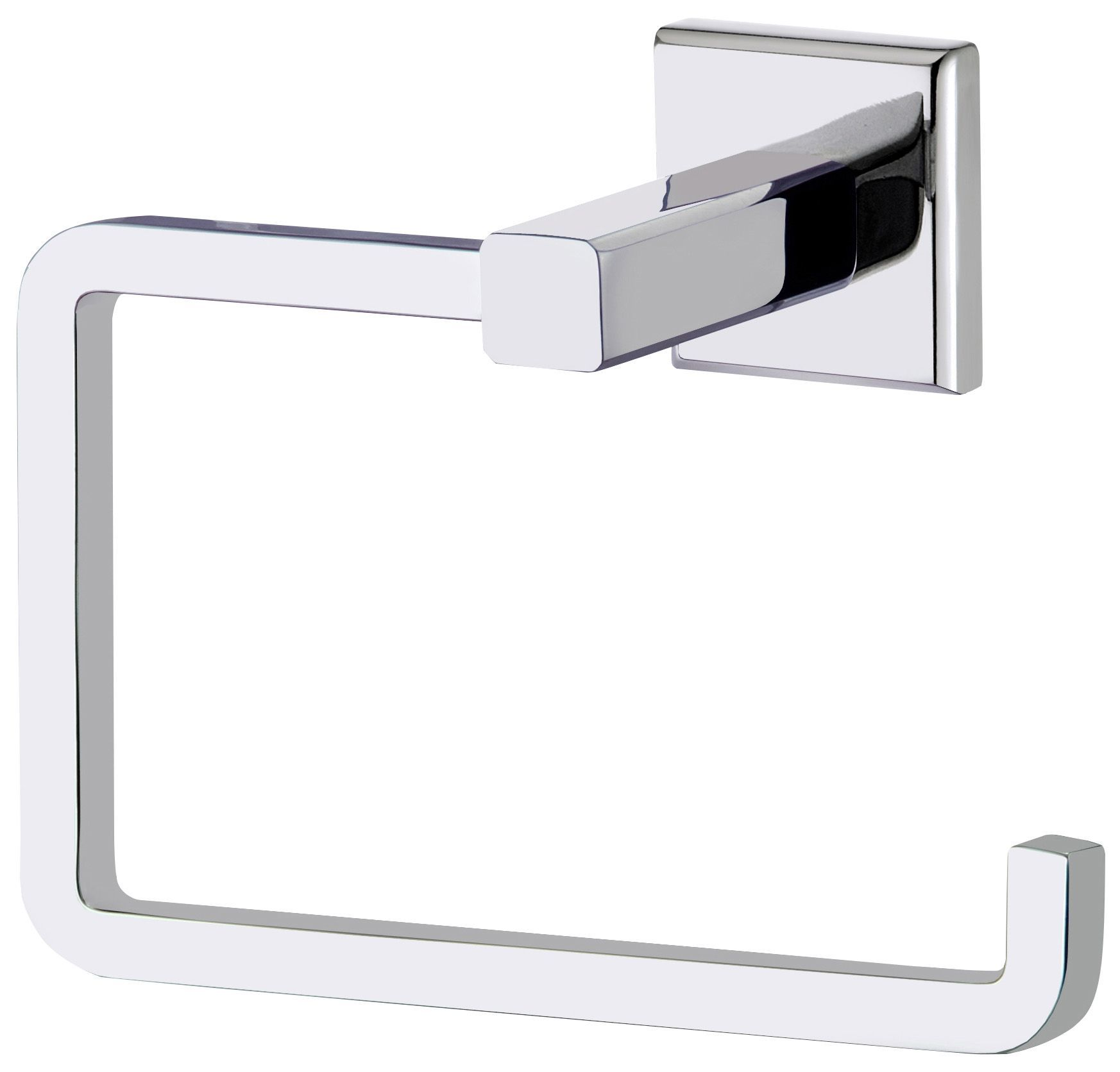 Cooke & Lewis Linear Silver Chrome effect Toilet roll holder, (W ...