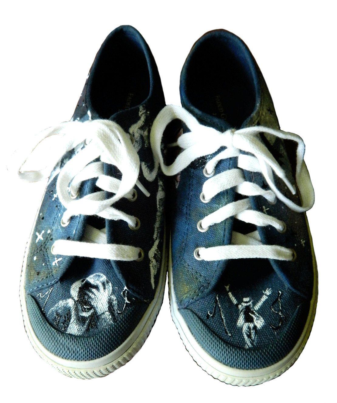 MJ customized converse shoes   Michael Jackson custom hand p