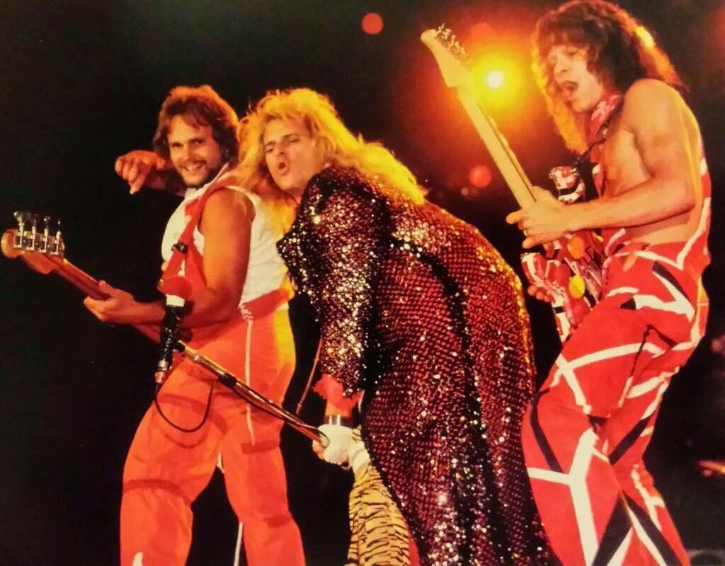 Eddie Van Halen David Lee Roth And Michael Anthony 1983 Van Halen Eddie Van Halen David Lee Roth