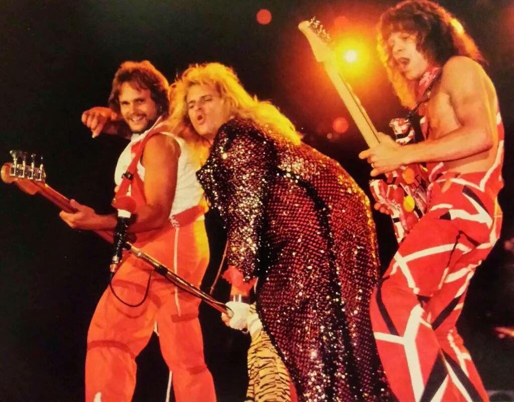 Eddie Van Halen David Lee Roth And Michael Anthony 1983 Eddie Van Halen Van Halen David Lee Roth