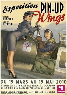 9267f0c675 Le blog de Romain Hugault: Exposition Pin-up Wings 2 | Aviation 1944 ...