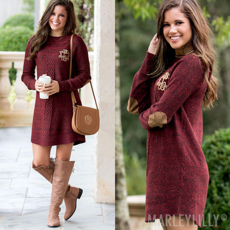 a053047eef5 monogrammed sweater dress