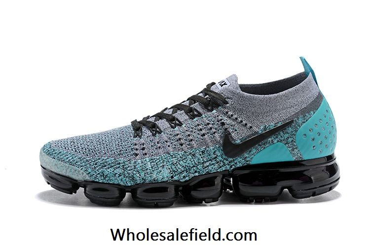 the best attitude f5926 65a0b Nike Air VaporMax 2018 2.0 Flyknit Gray Moon Blue Women Men Nike Air  Vapormax, Nike