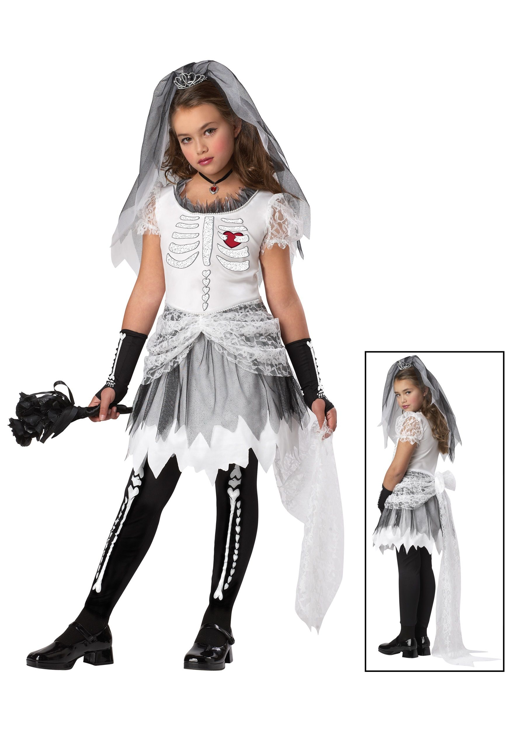 Girls bride halloween costume halloween costumes for Children s halloween costume ideas