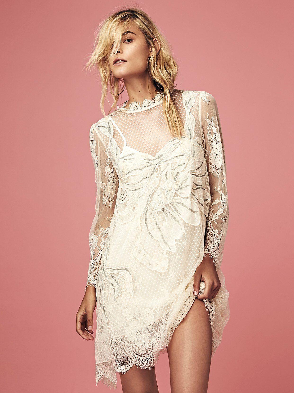 Swan lace mini dress from free people roberto valderrama riveros