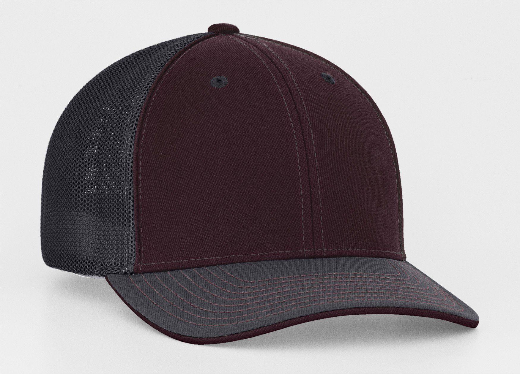 Graphite maroon mesh trucker hat hats mesh blank hats