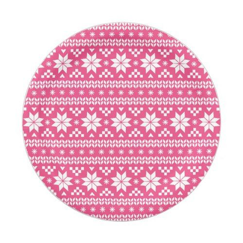 Hot Pink Fair Isle Christmas Sweater Pattern Paper Plate  sc 1 st  Pinterest & Hot Pink Fair Isle Christmas Sweater Pattern Paper Plate ...