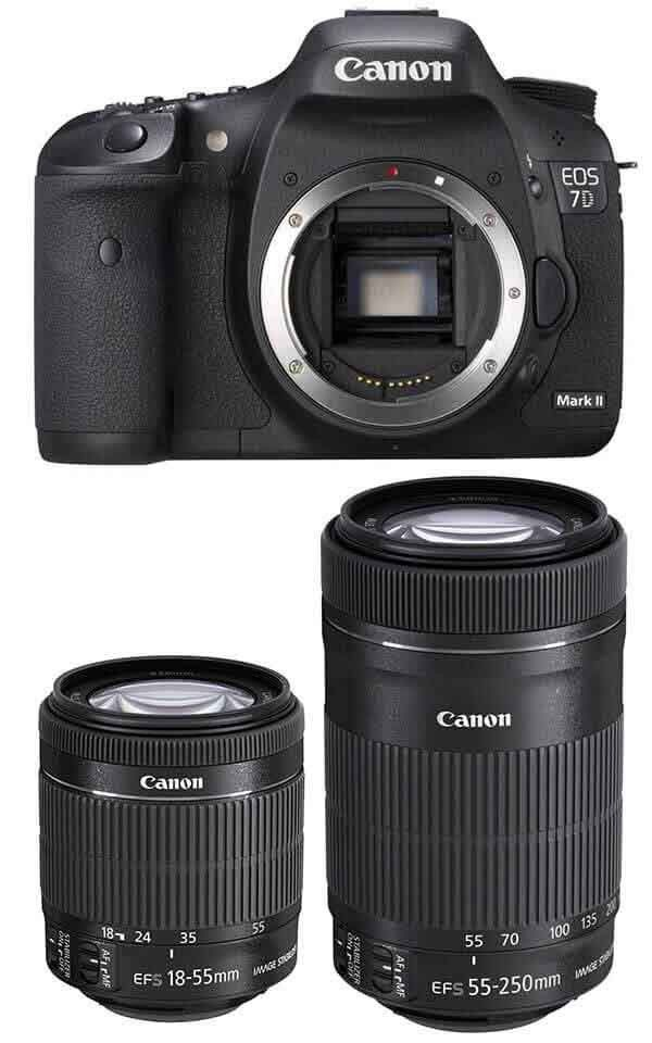 Canon S 7d Mark Ii Twin Lens Video Perfect Combo 18 55 55 250 Stm Camera Lenses Canon Canon Lens Canon Dslr Lenses