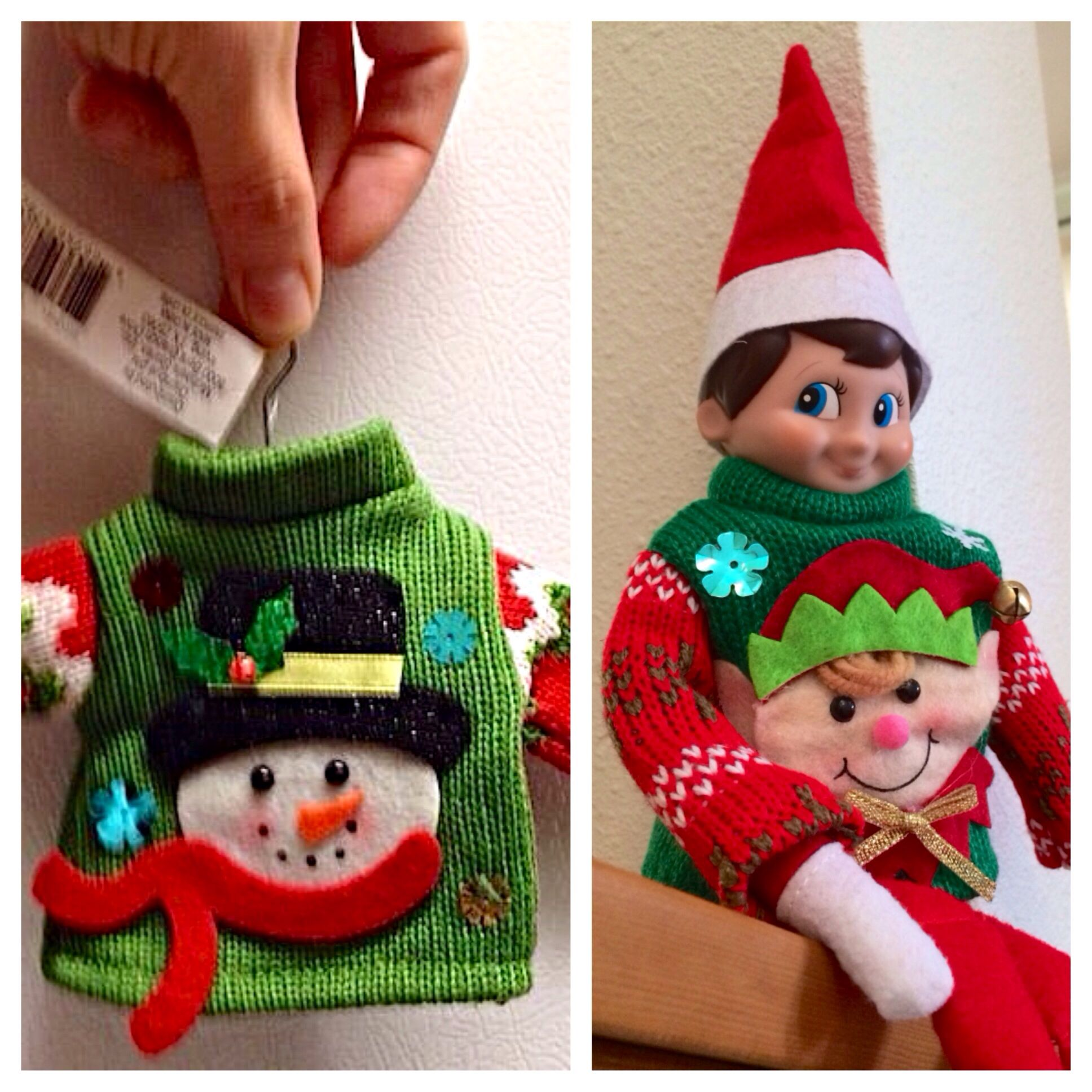 Elf On The Shelf Michael S Craft Store Carries These Little Sweater Ornaments For Around 5 Tha Christmas Crafts For Adults Michael Christmas Christmas Crafts
