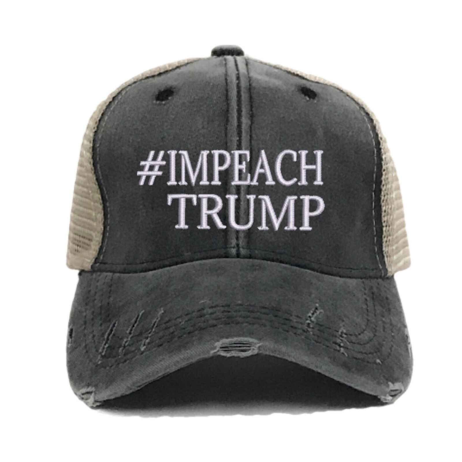 028c071dc338a Check out our anti Trump Hat in our  etsy shop  IMPEACH TRUMP Trucker Hat -  Custom Distressed - Embroidered Hats - Political - Anti Government - Gift  For ...