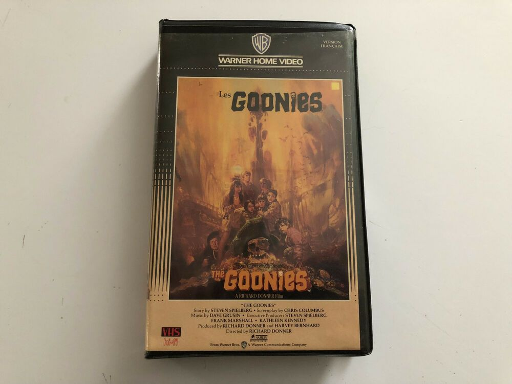 The Goonies Vintage Warner Clamshell Insanely Mega Rare Vhs France Pal 1985 Goonies Vhs Les Goonies