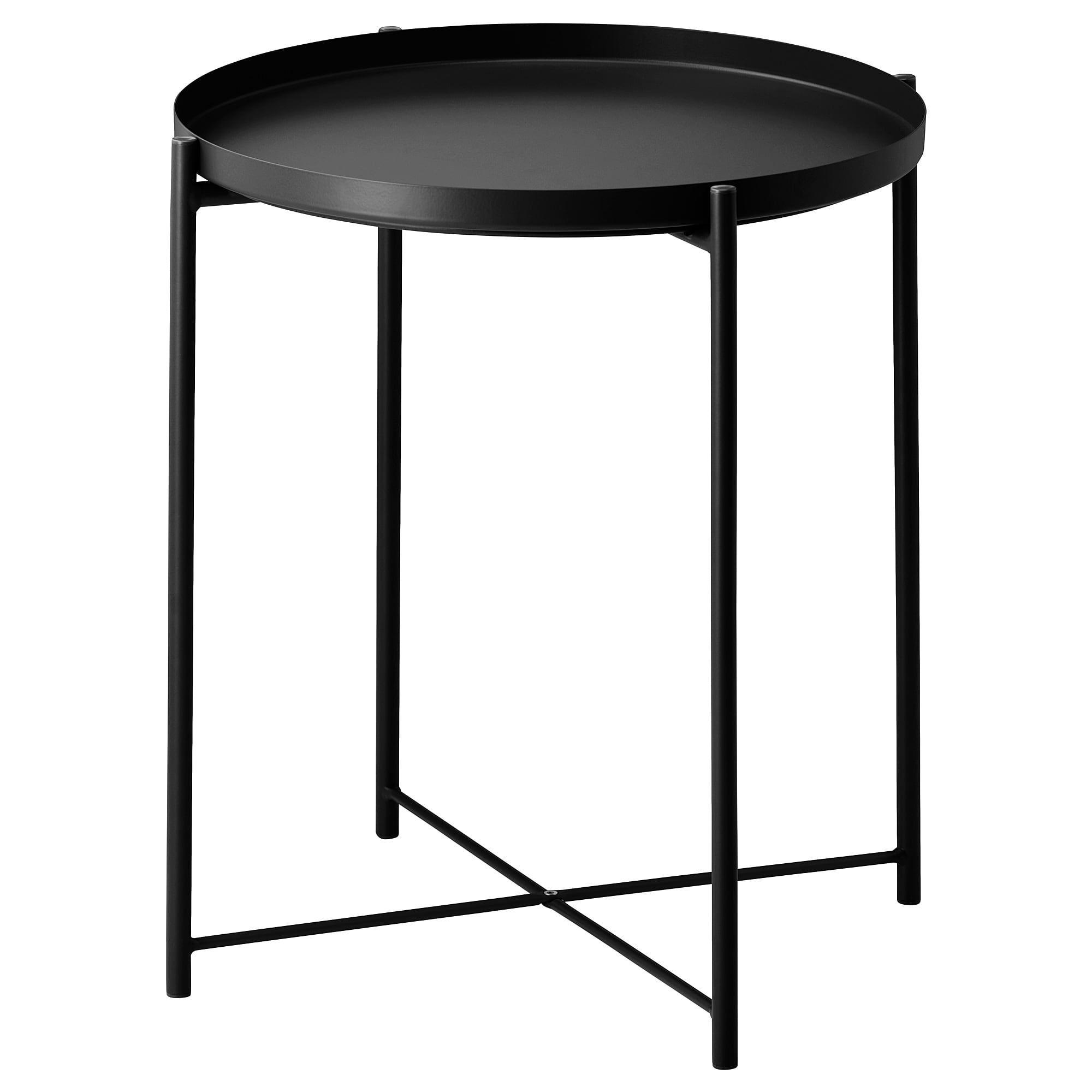 IKEA - GLADOM Tray table black | Ikea side table, Black ...