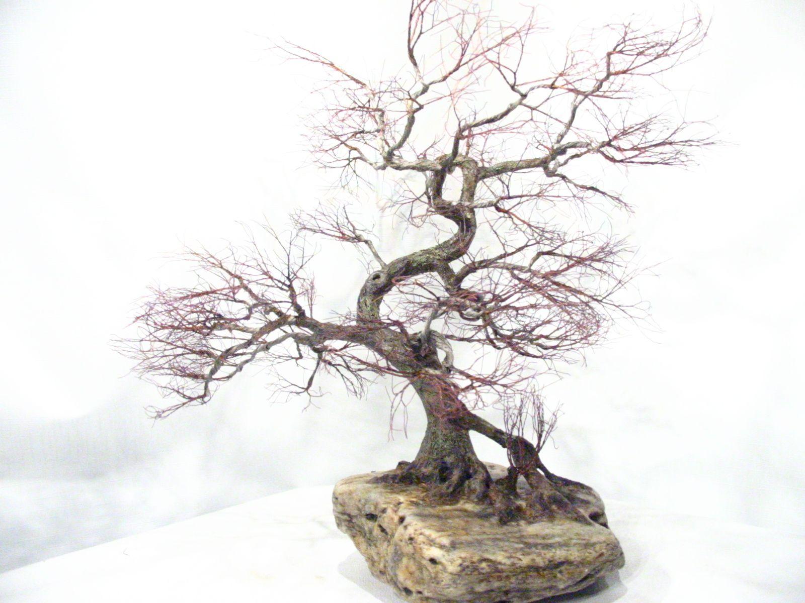 Copper wire tree - Bonsai style | art metal | Pinterest | Wire trees ...