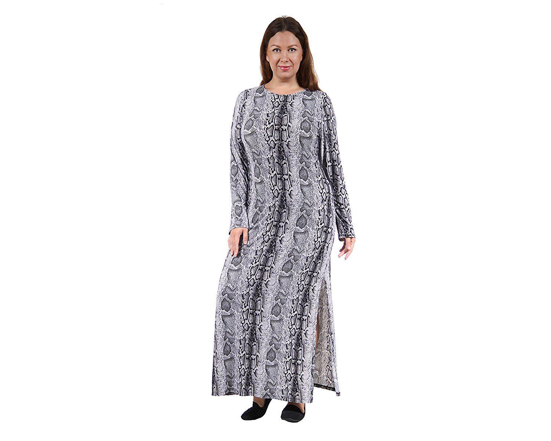 9ed9e268ad7 24 7 Comfort Apparel Women s Plus Size Snakeskin Printed Maxi Dress  P6008SNK -- Don
