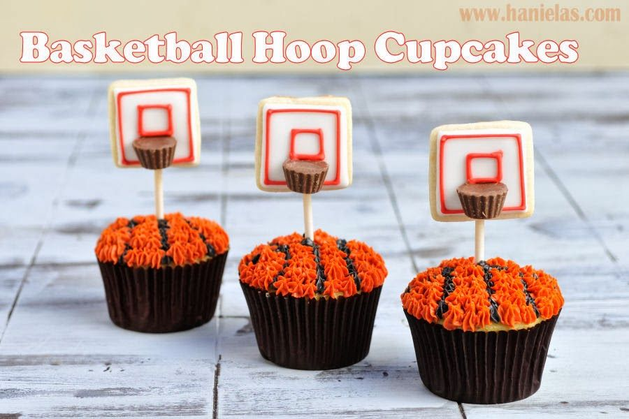 Hanielas How to Make Basketball Hoop Cupcakes Basketball March