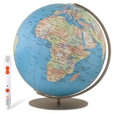 "Rotating Wood World Globe Educational Model Vintage Reference Atlases Map 5.5/""/'"