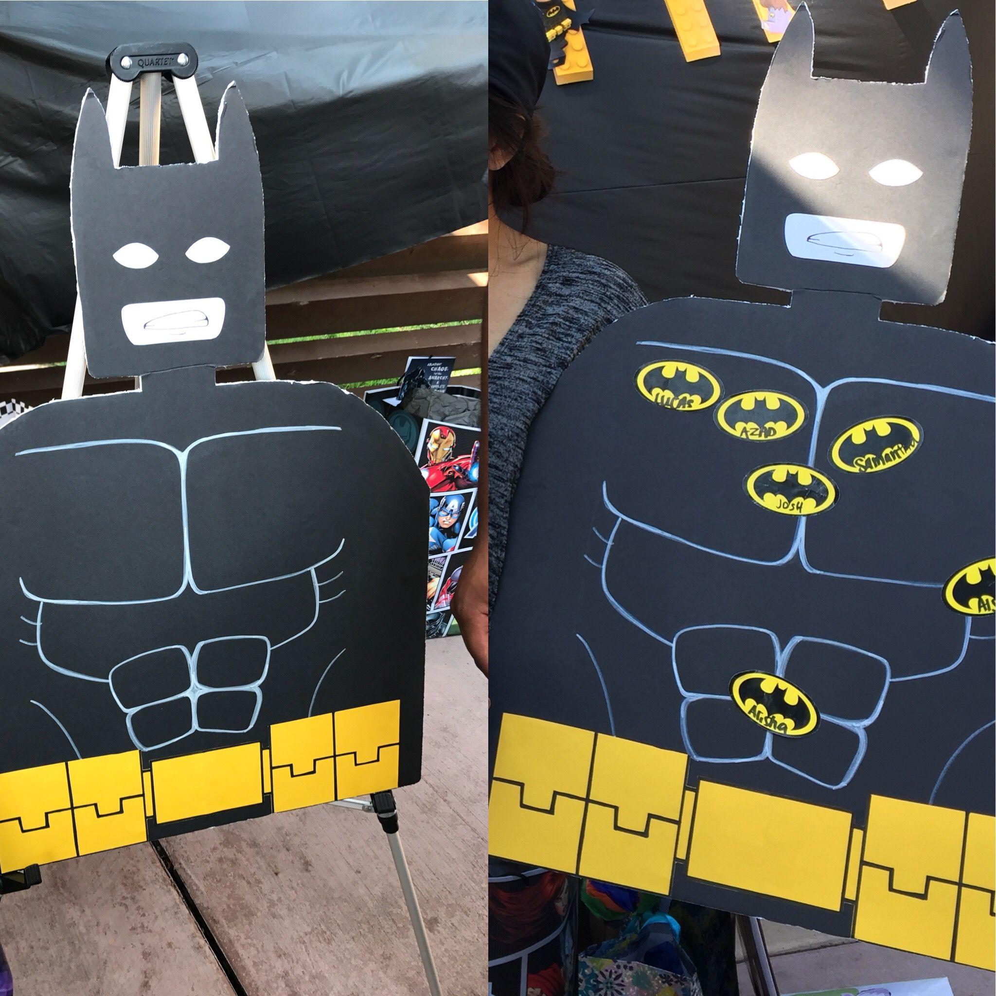 Lego Batman Party: Pin the Batman Symbol. | Lego batman ...