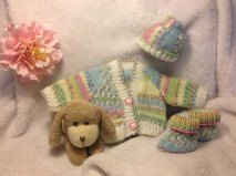 Knitting Pattern Easy Baby Cardigan Hat and by HamptonTowers, £2.49