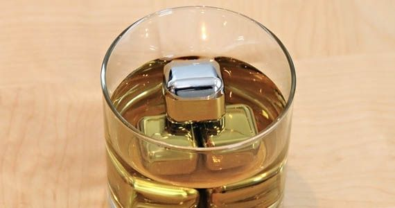 Steel Ice Cubes. All the cold, zero watering down.