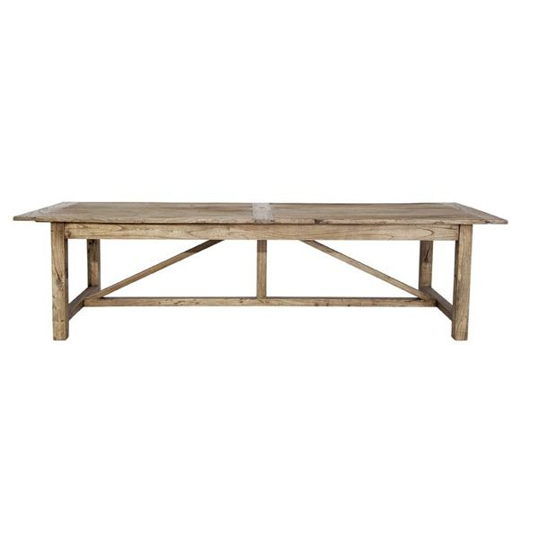 Southhampton Recycled Timber Dining Table Reclaimed Elm