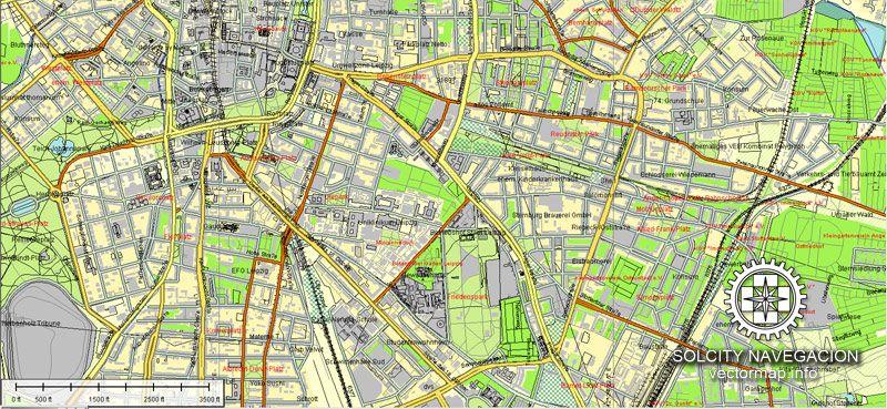 Leipzig printable vector street map full editable Adobe