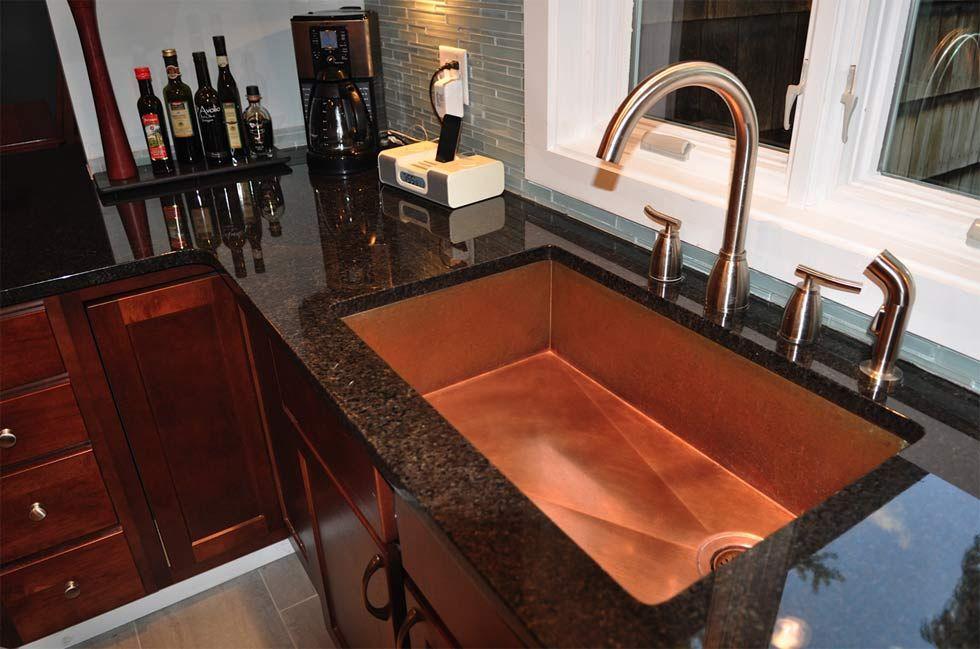 Copper Under Mount Kitchen Sinks By Rachiele Copper Kitchen Sink