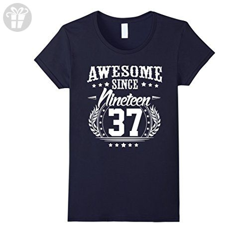 Womens 1937 T-Shirt for Men/Women. 80 Year Old Birthday Gifts Large Navy - Birthday shirts (*Amazon Partner-Link)
