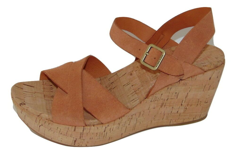 a752b145927 Details about Korks by Kork Ease Sz 9 M Brown Leather Platform Wedge  Sandals Shoes NICE in 2019