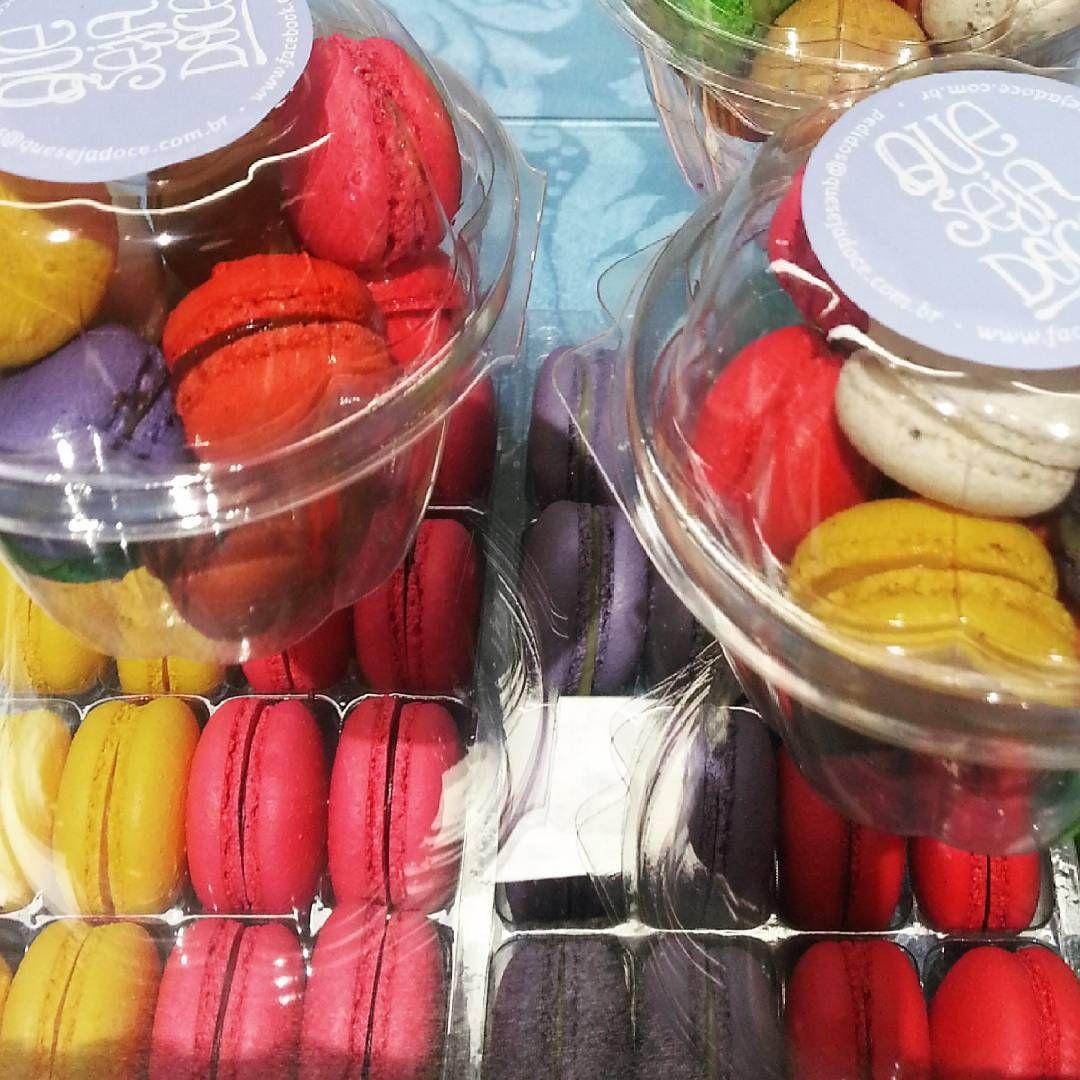 Macarons coloridinhos da #quesejadoce ♥
