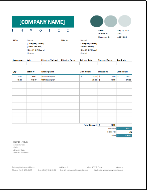 Sales Invoice Template Download At HttpWww